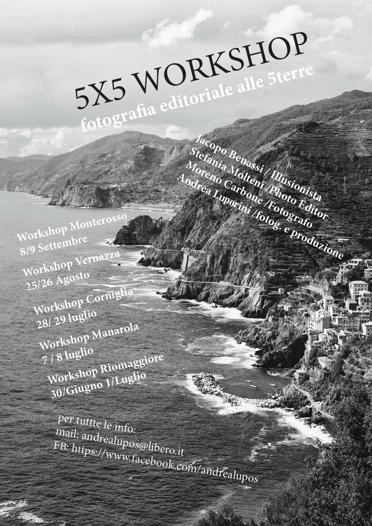 Workshop di fotografia in bianco e nero alle Cinque Terre